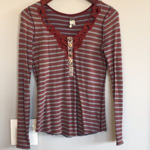 Free People Tops - We the Free Free People Striped Thermal XS